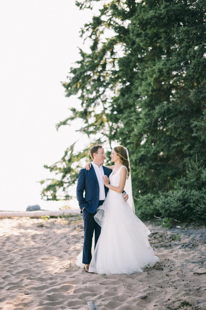 Forest Waterfront Island Wedding