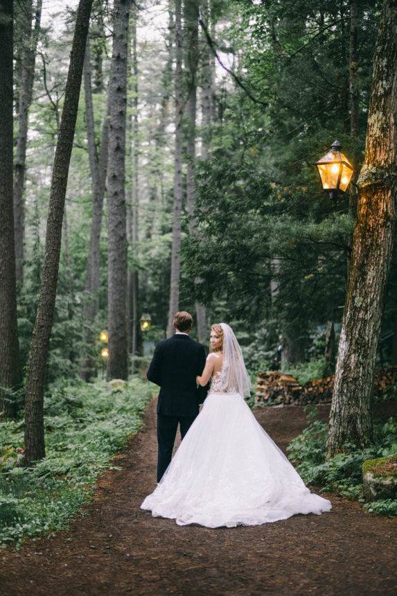 forest fairytale wedding migis lodge maine