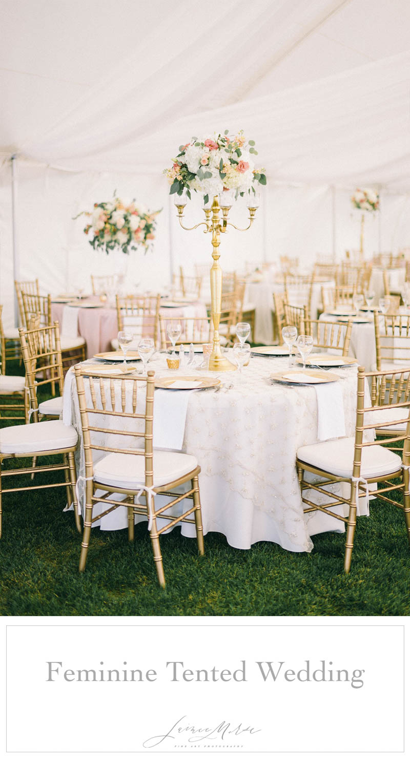 feminine tented wedding