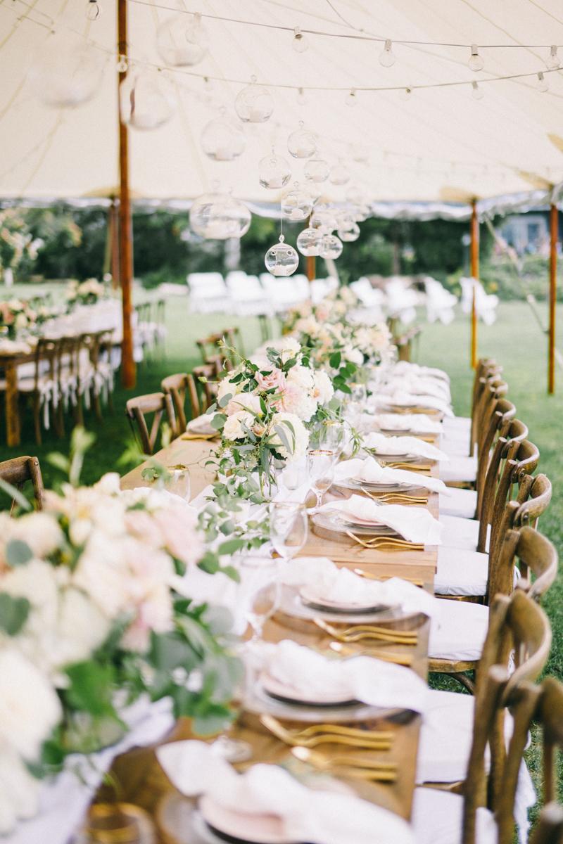 Kennebunkport Wedding with candlelit reception