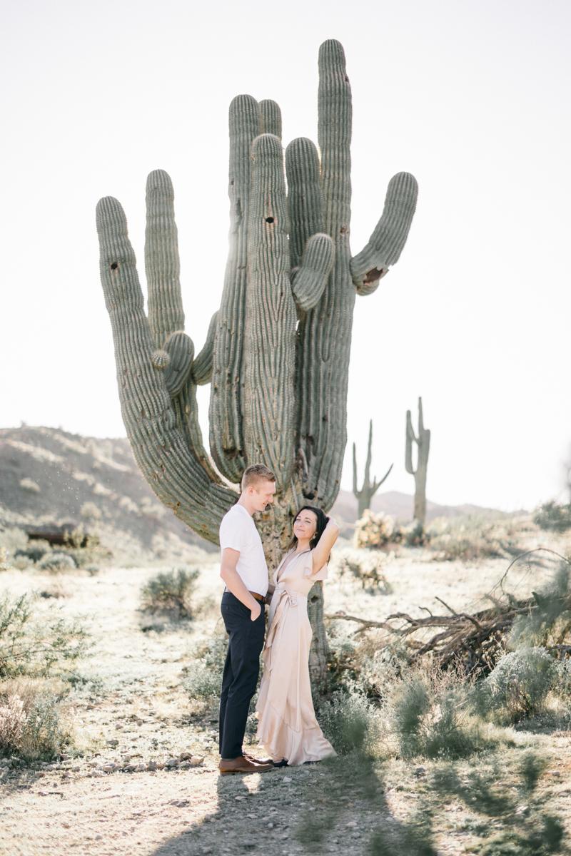 cactus engagement photos