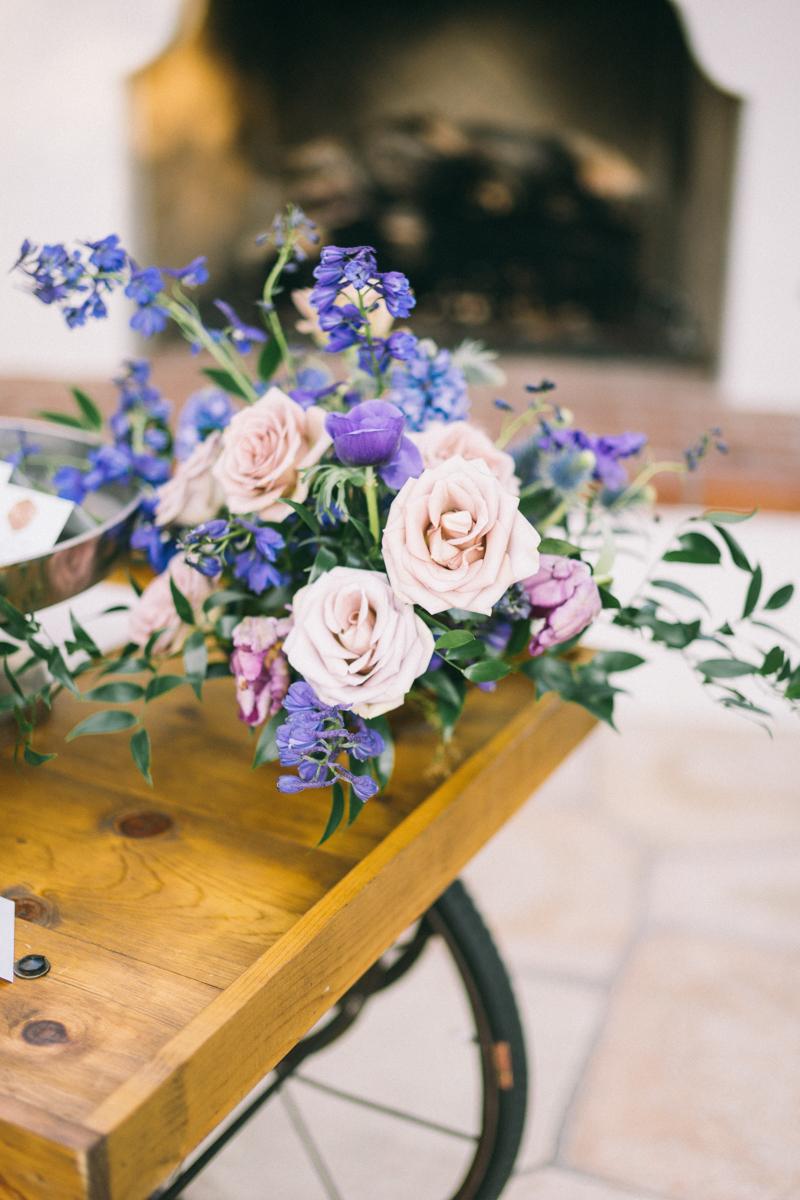 purple blue flowers el chorro