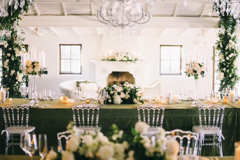 green and white luxury wedding tablescapes scottsdale arizona