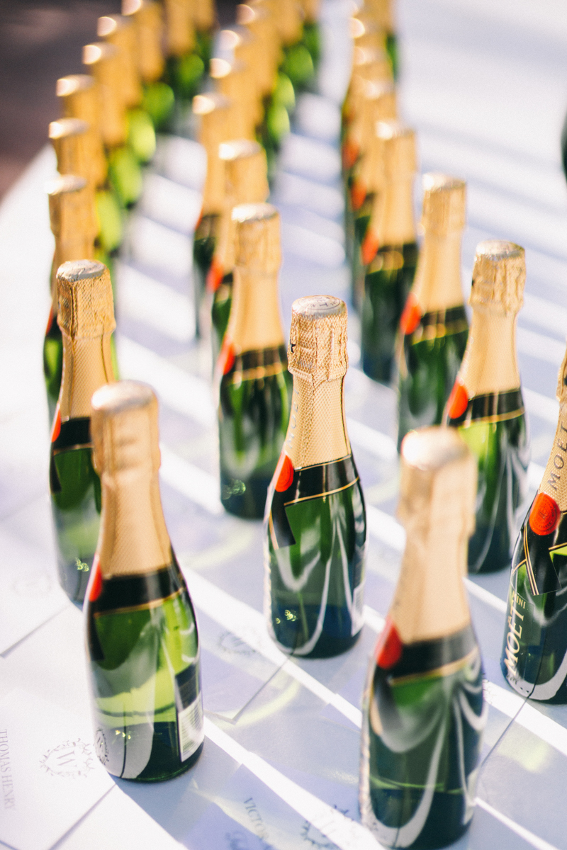 champagne bottles name place holders