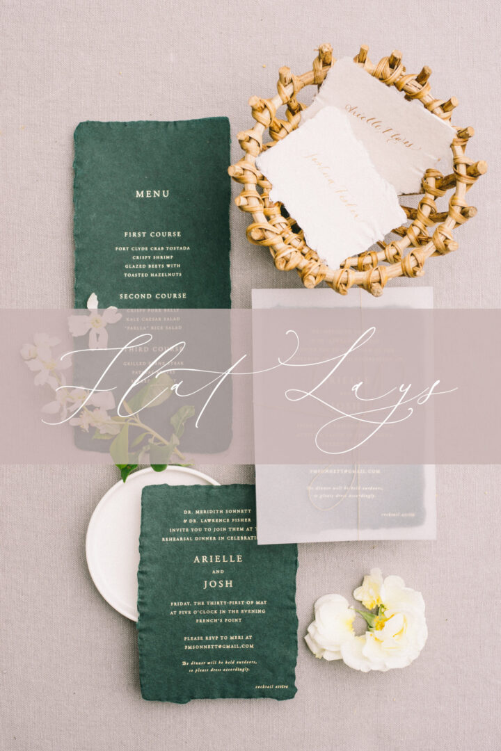 how to create wedding flat lays