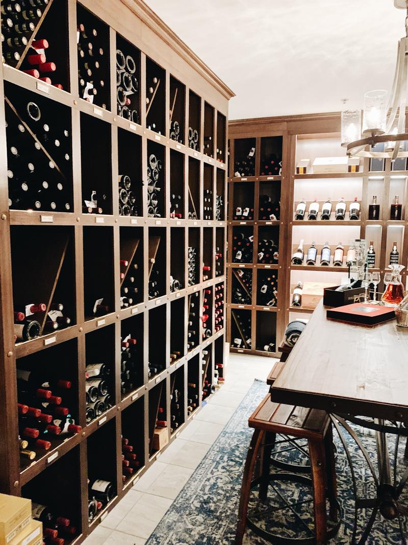 wine cellar at wrigley mansion in phoenix arizona