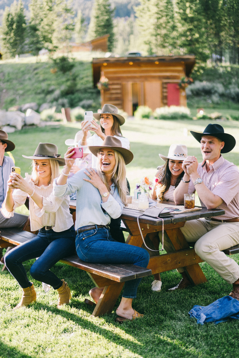 cowboy yellowstone club welcome party big sky montana