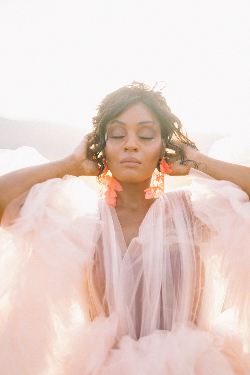 pink dress editorial arizona