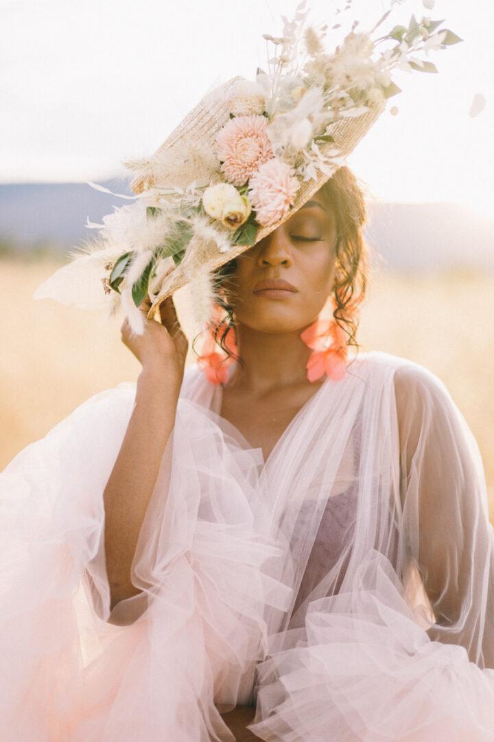 wedding hat editorial photos
