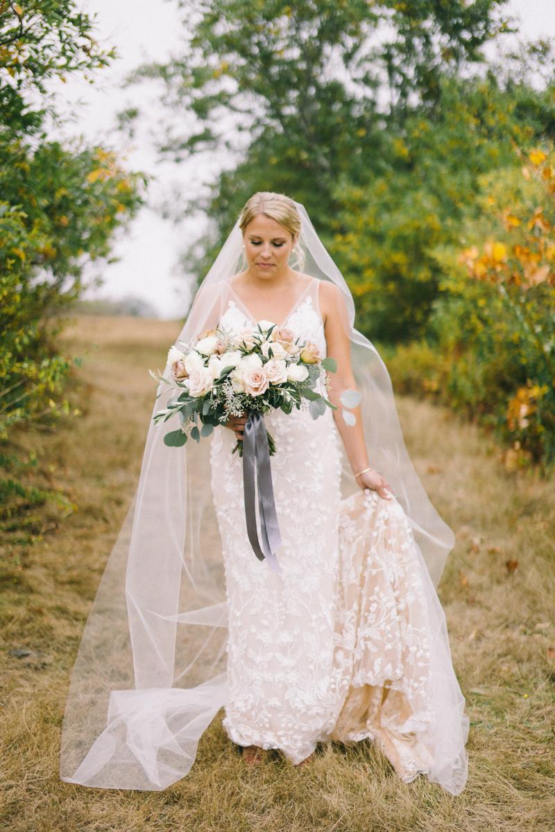 fall in maine fine art bridal portraits