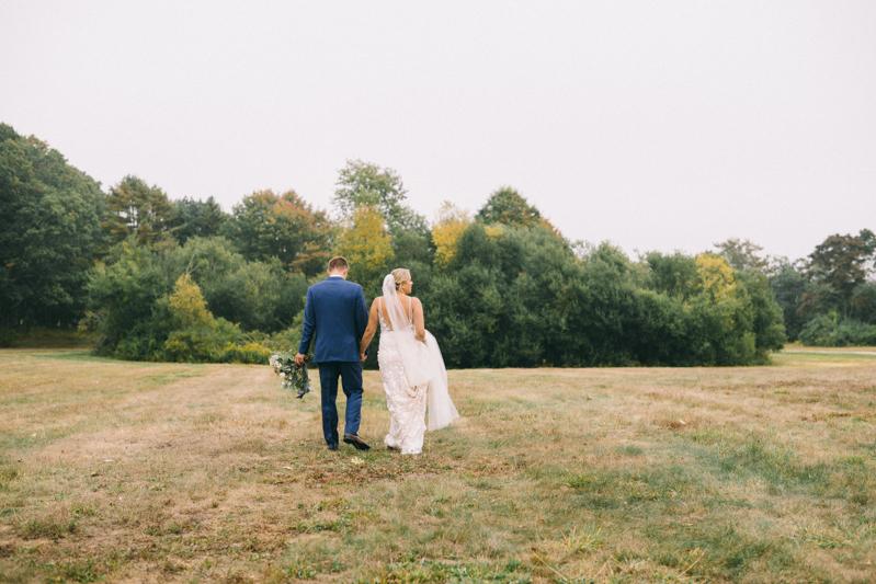maine fall bride and groom portraits