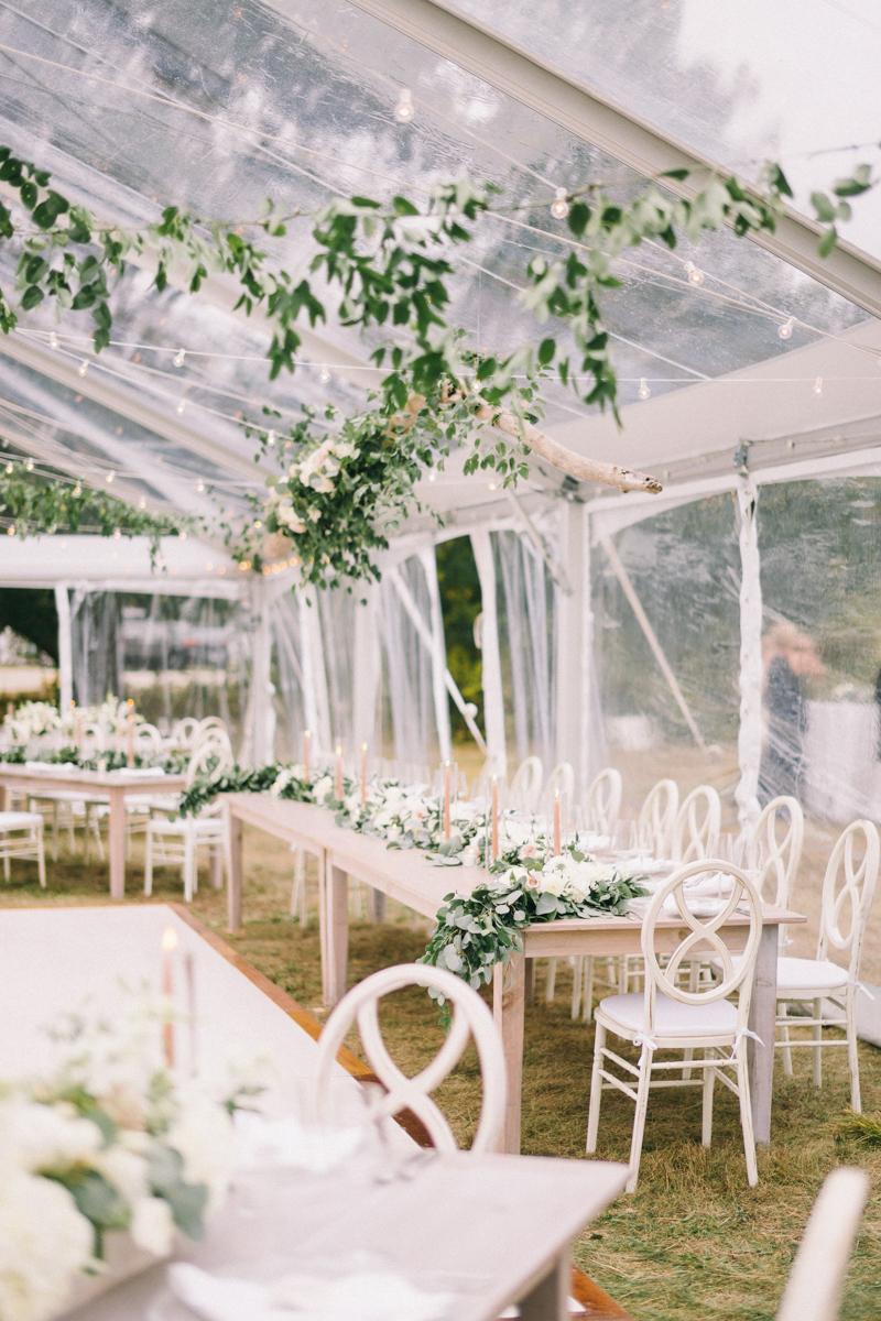 clear tent oceanside wedding
