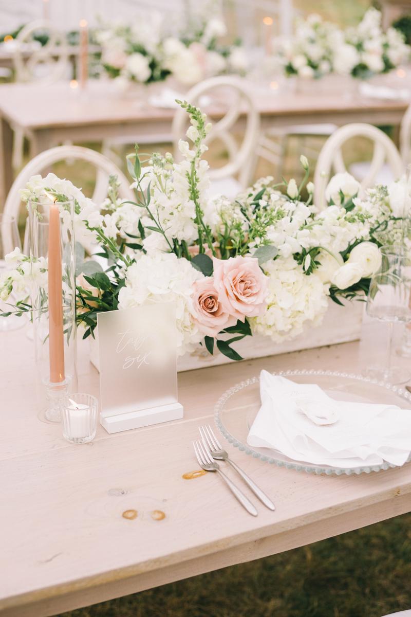 romantic blush and white wedding