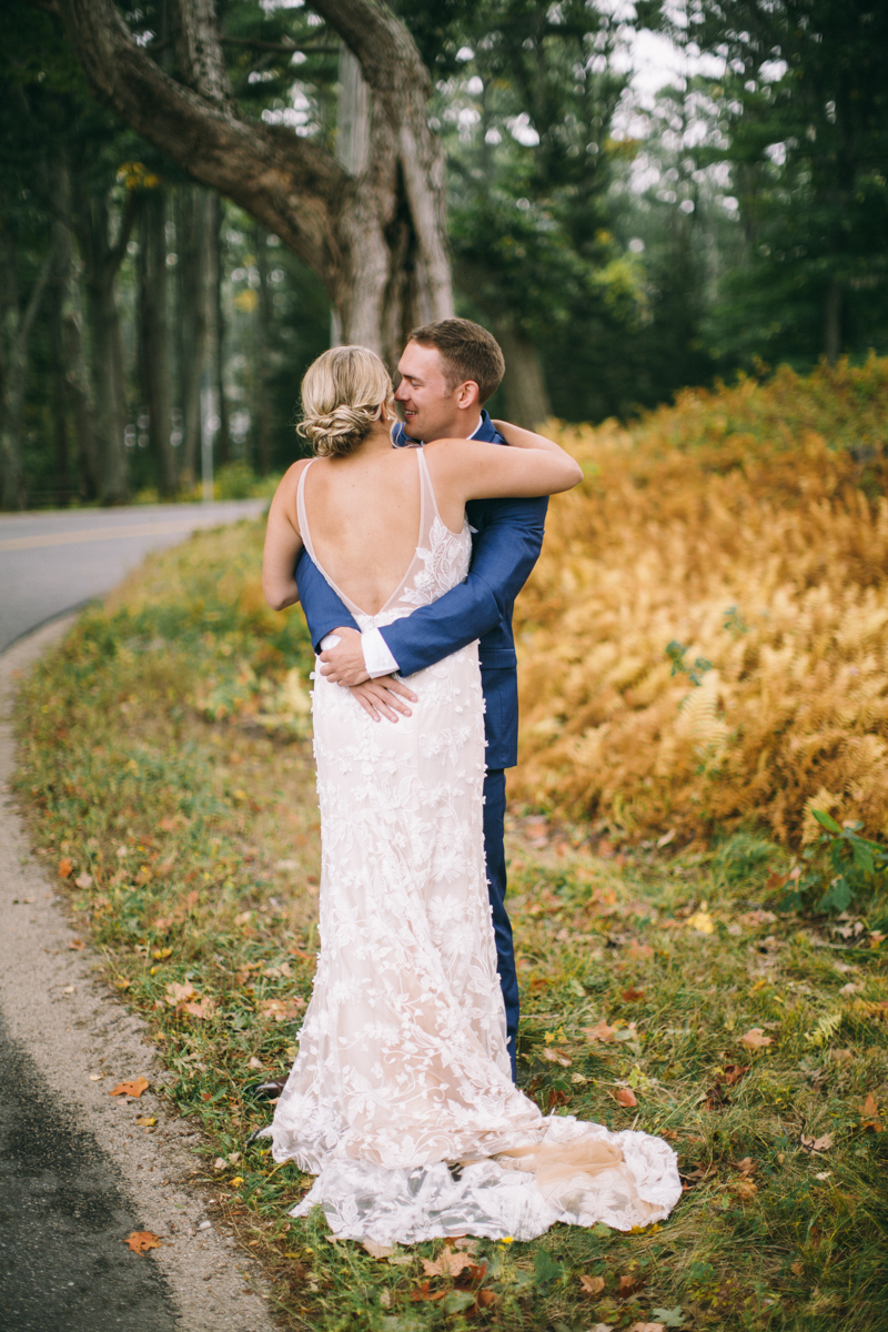 fall maine wedding