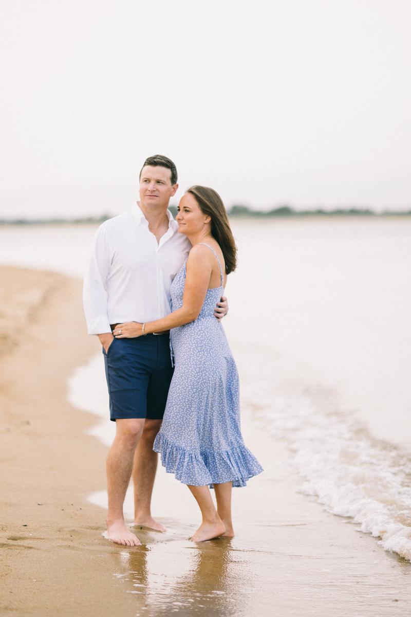 beach engagement photos in newburyport massachusetts