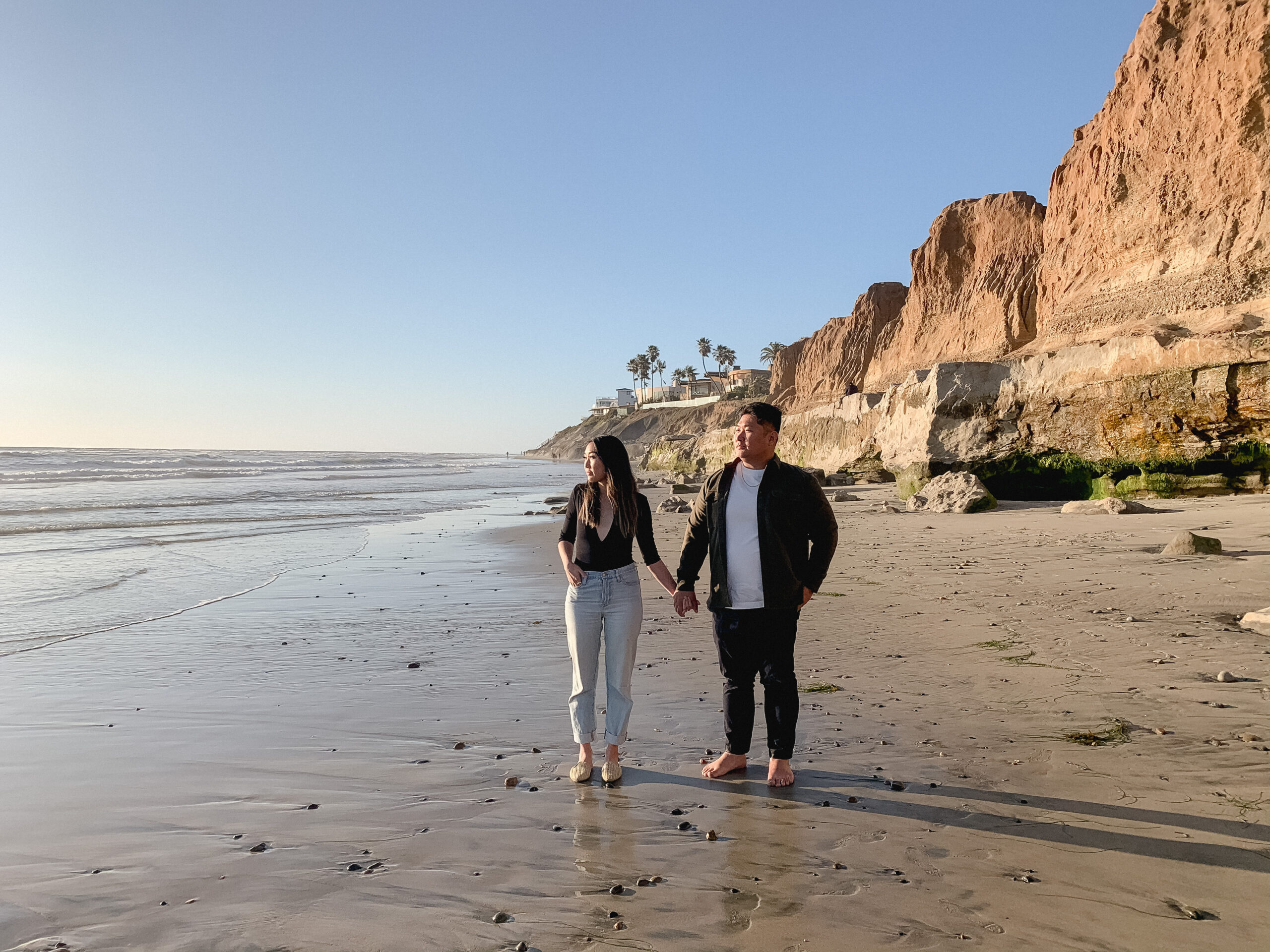 carlsbad cliffs california engagement photos