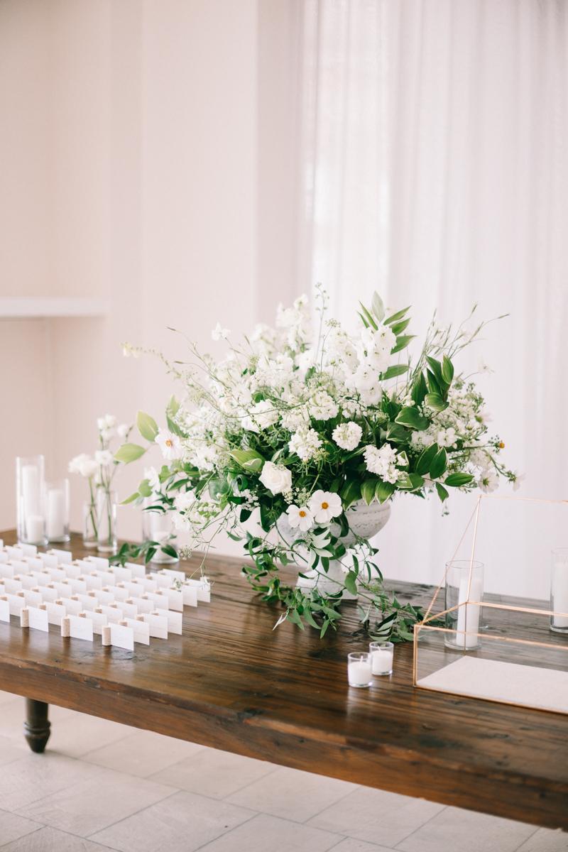 belle mer wedding decor