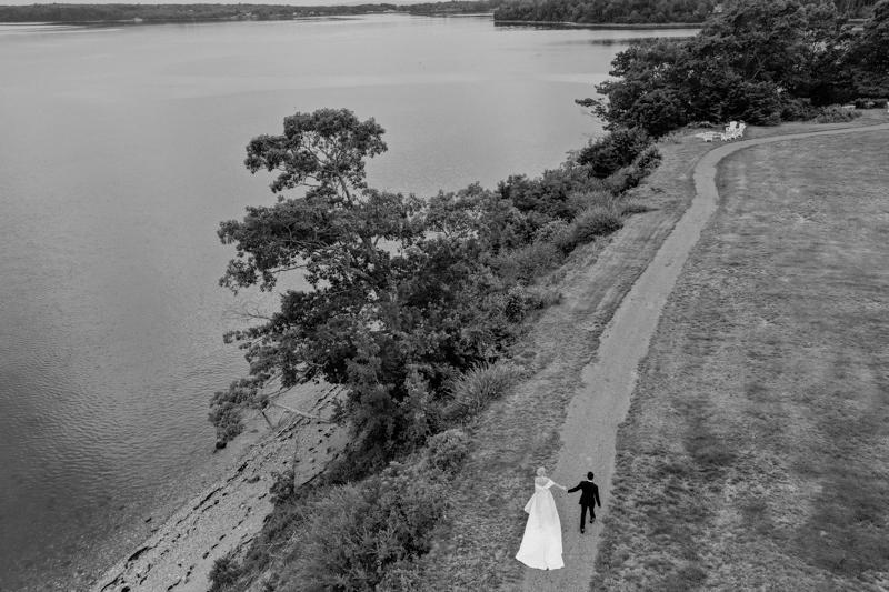 drone wedding photos
