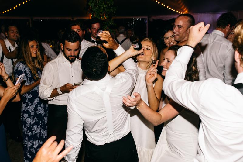 maine wedding party photos