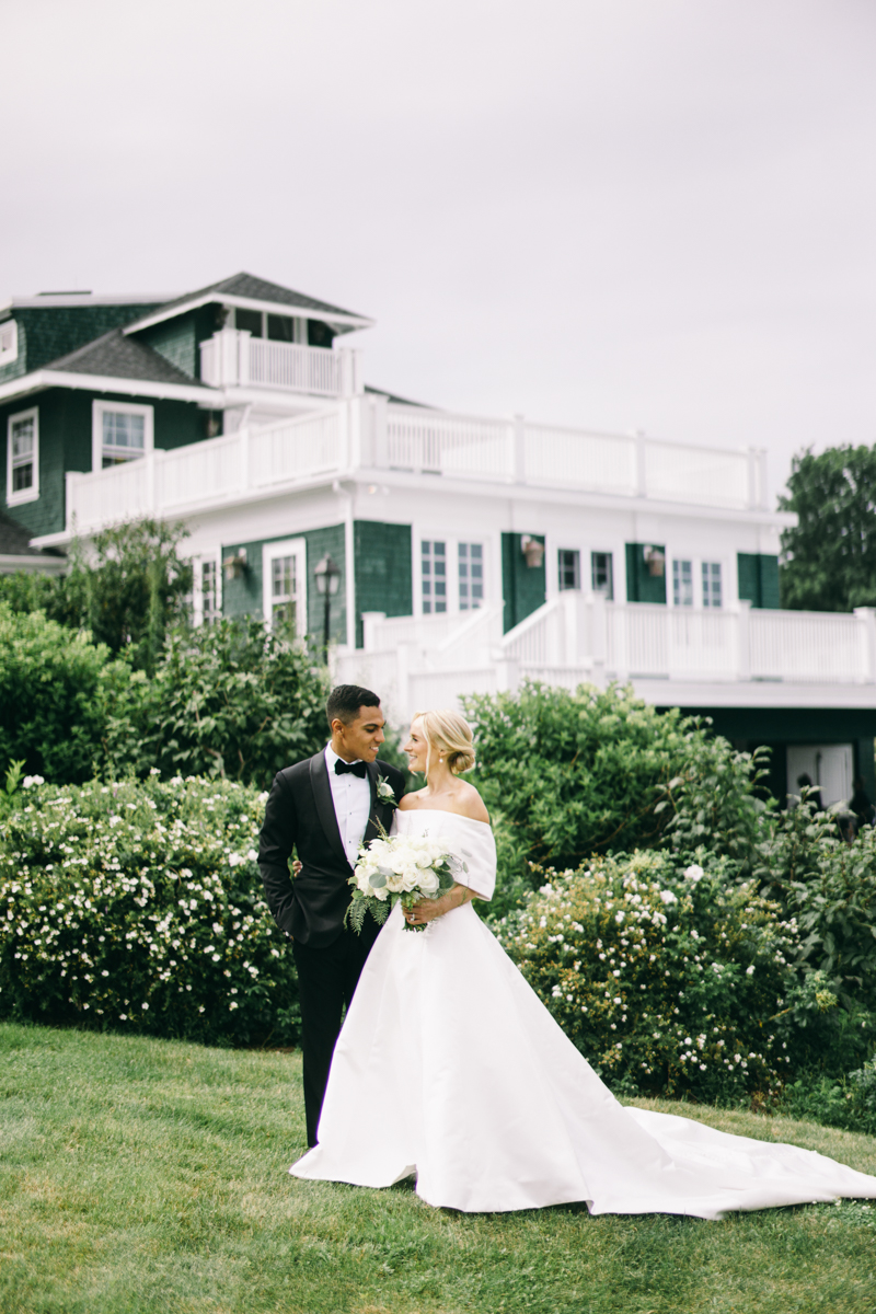 vogue editorial bride and groom portraits in maine