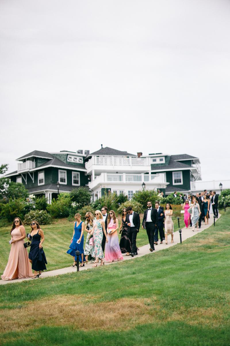 french's point maine wedding ceremony