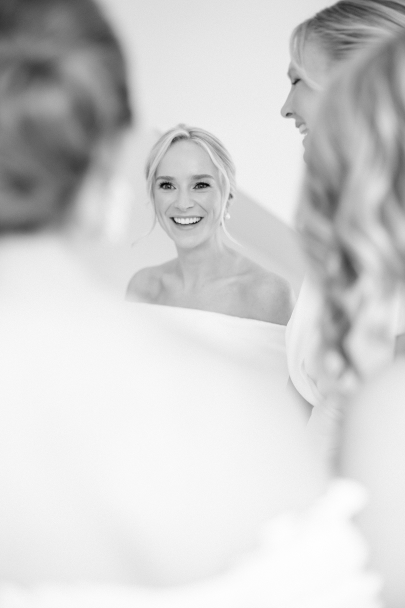 getting ready portraits french's point maine wedding