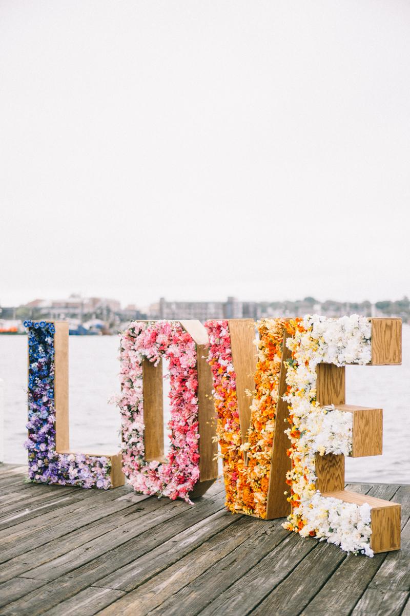 bright colorful wedding newport rhode island