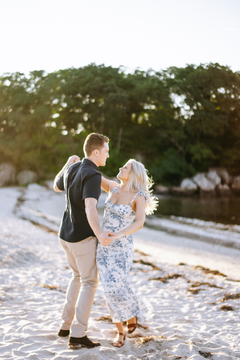 private beach engagement session