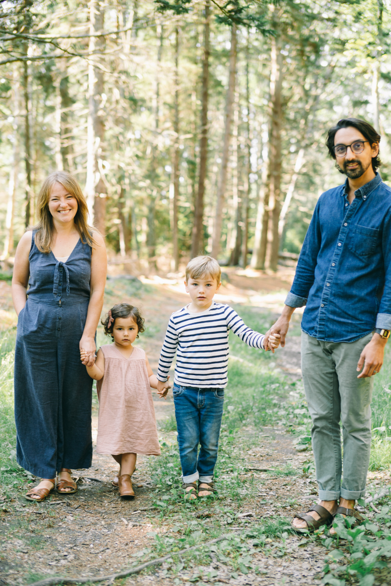 family portraits in maine woods