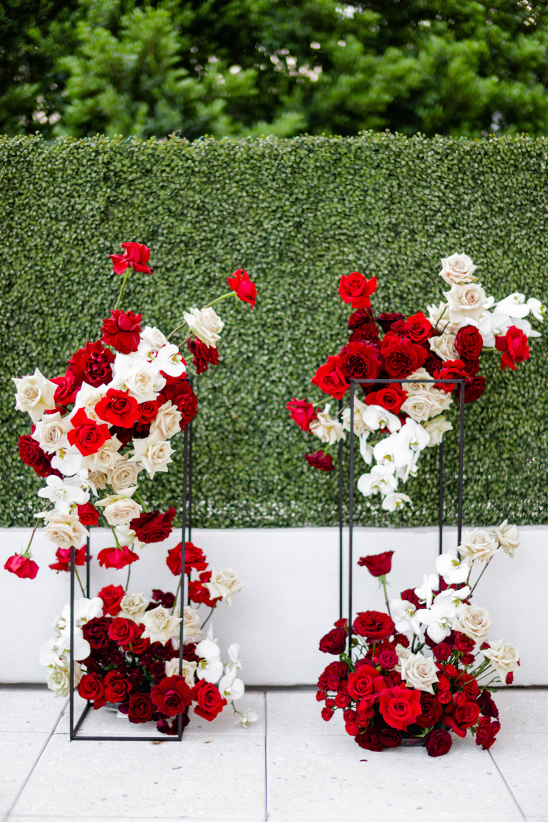 red and white floral scottsdale editorial wedding