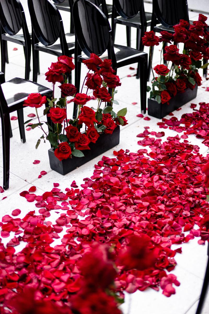 romantic red vogue wedding scottsdale