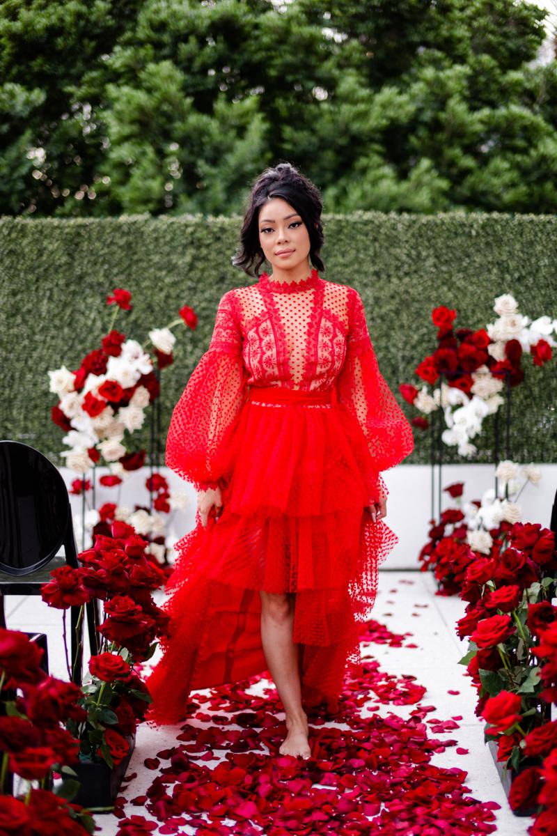 red reception dress editorial wedding scottsdale arizona