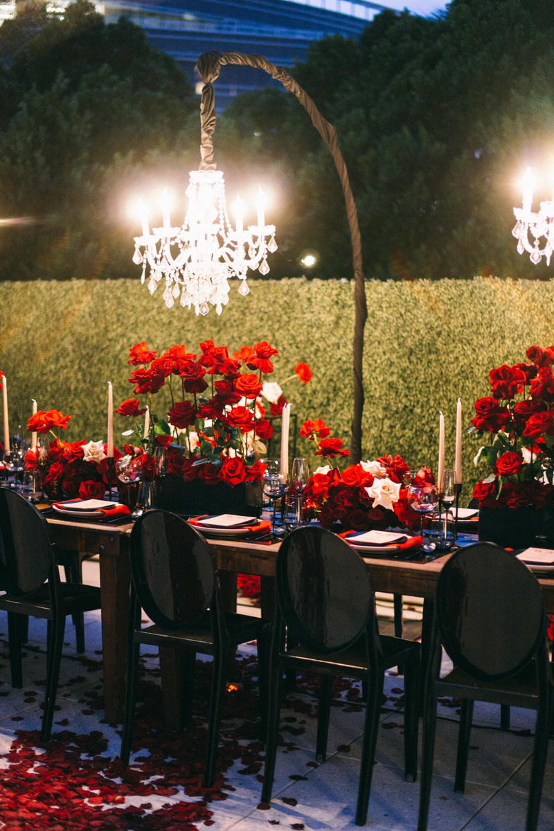 night romantic wedding scottsdale