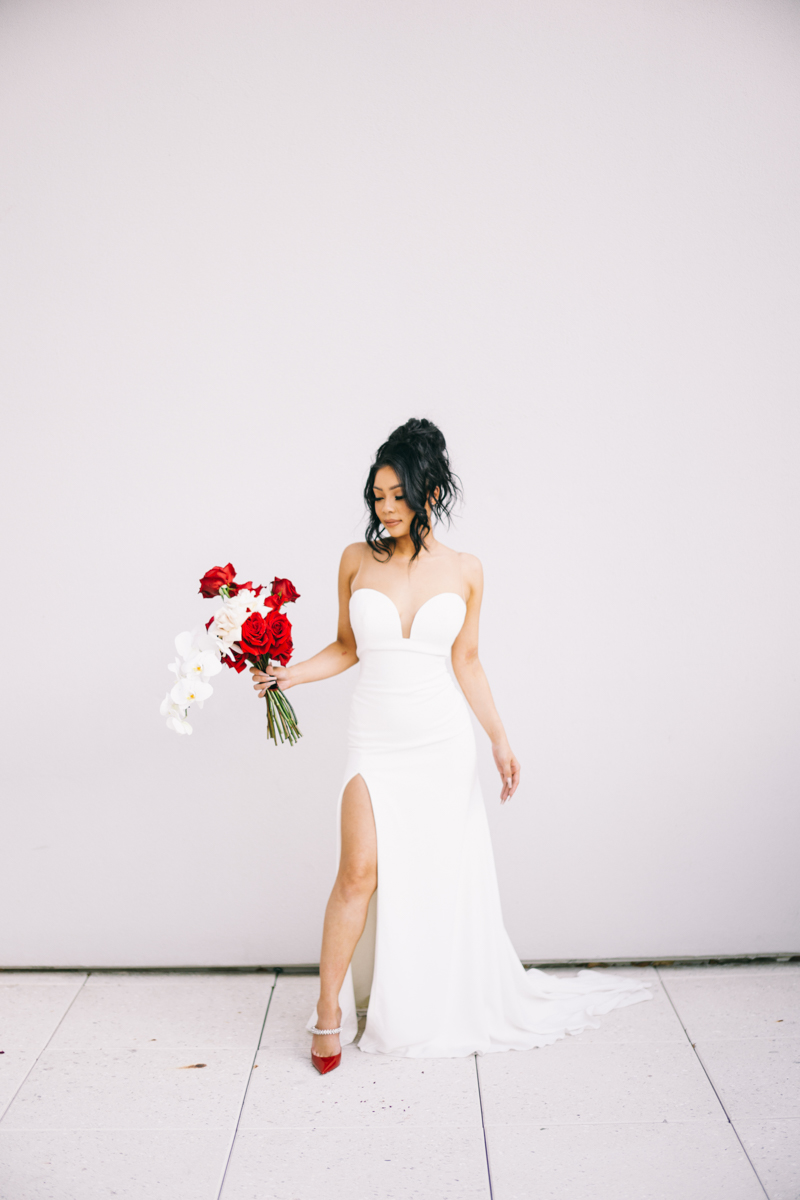 red white and black editorial wedding scottsdale