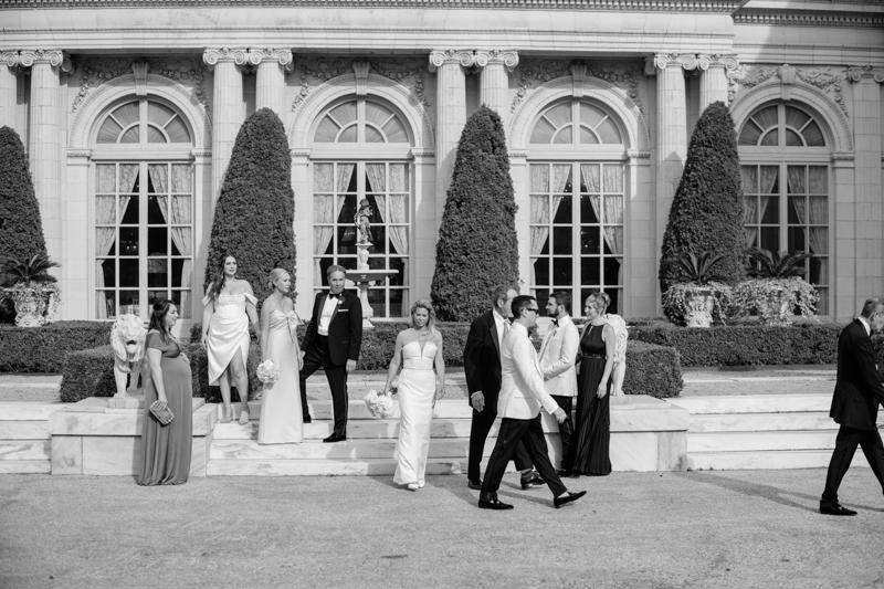 slim aarons style wedding portraits