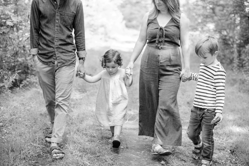 black and white family portraits maine